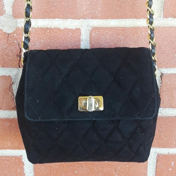 Neiman Marcus Handbags - Vintage Neiman Marcus quilted suede crossbody bag